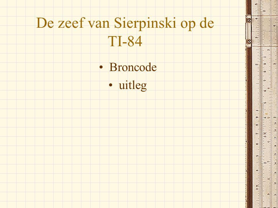 De zeef van Sierpinski op de TI-84