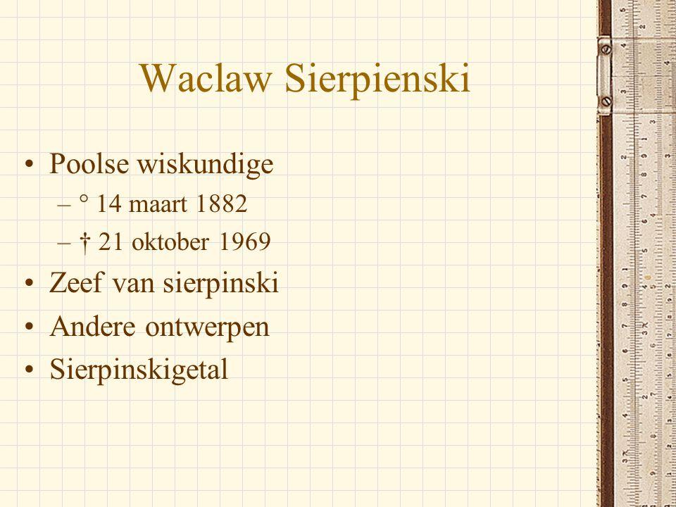 Waclaw Sierpienski Poolse wiskundige Zeef van sierpinski