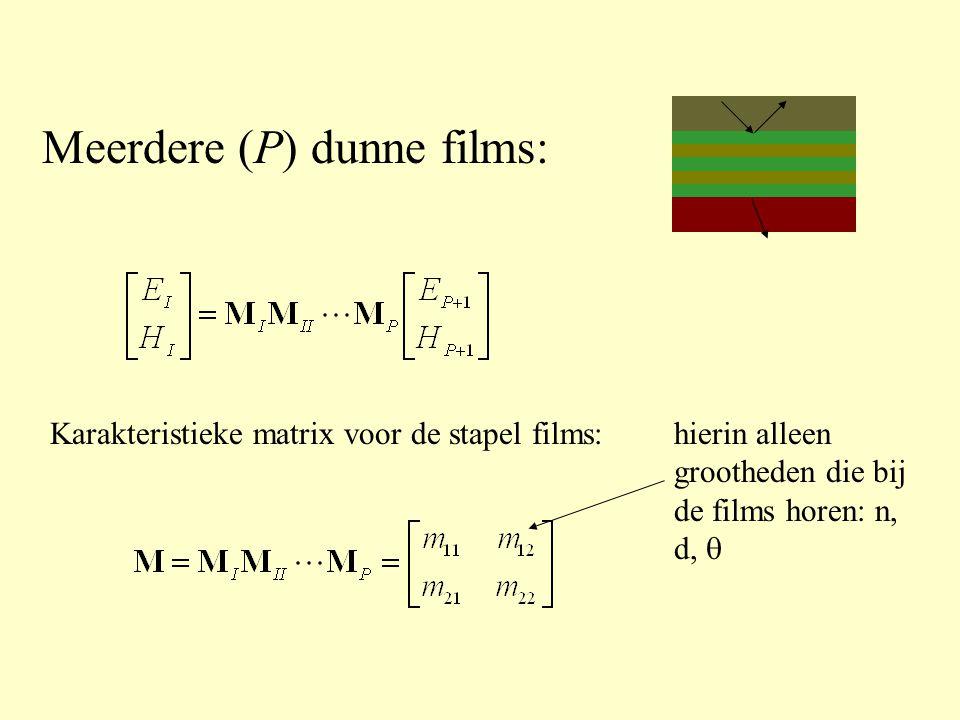 Meerdere (P) dunne films: