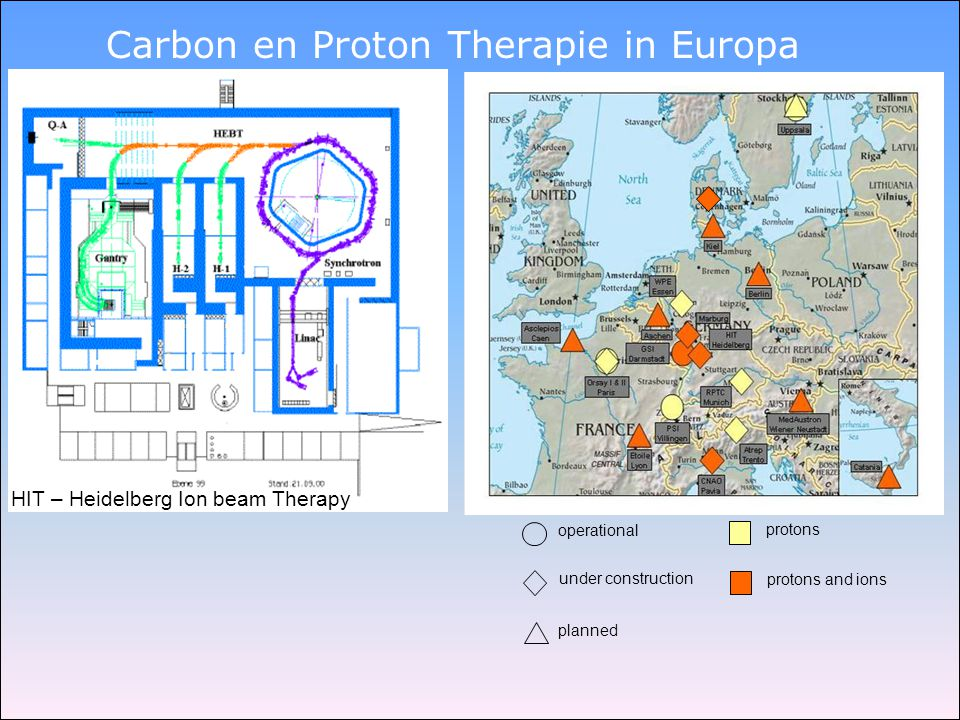 Carbon en Proton Therapie in Europa