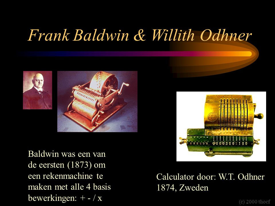 Frank Baldwin & Willith Odhner