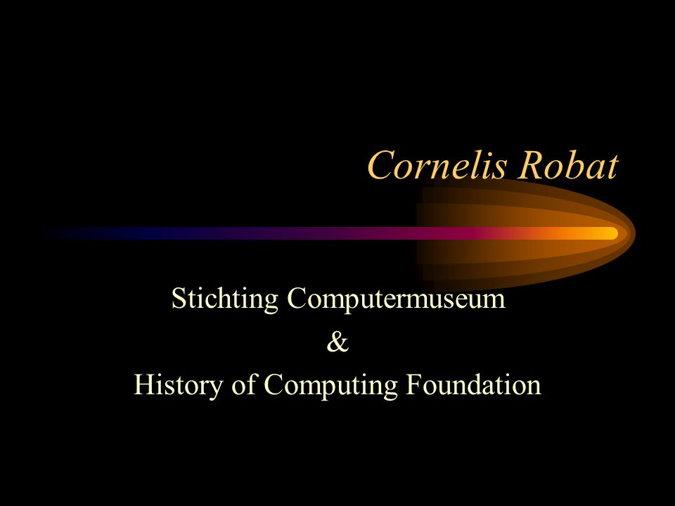 Stichting Computermuseum & History of Computing Foundation