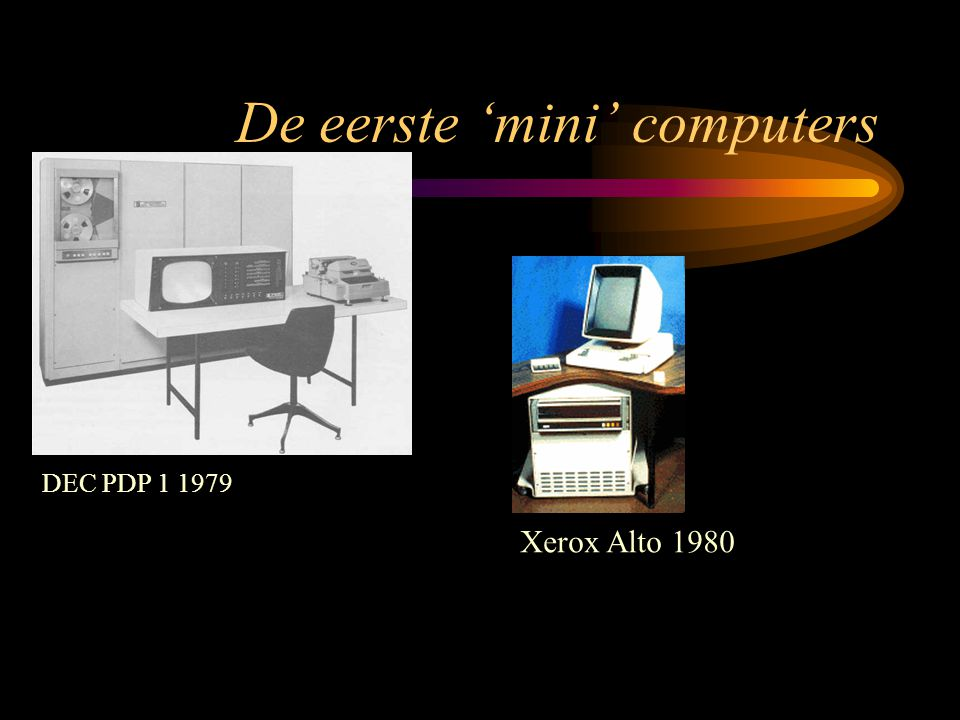 De eerste 'mini' computers