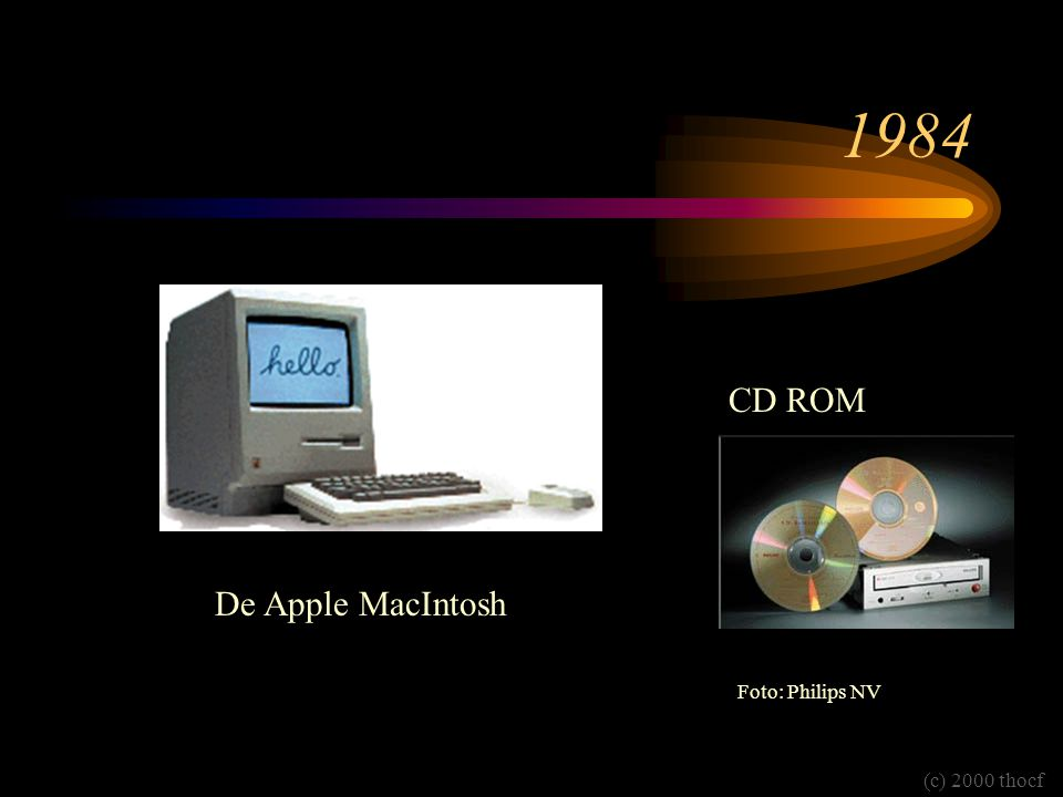 1984 CD ROM De Apple MacIntosh Foto: Philips NV (c) 2000 thocf