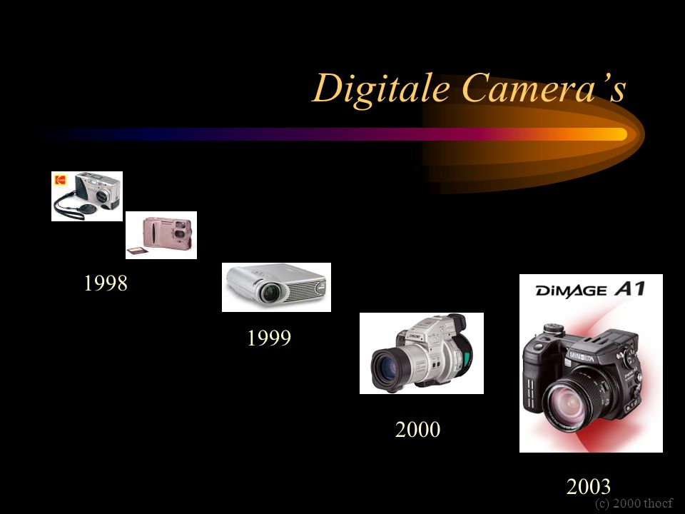 Digitale Camera's 1998 1999 2000 2003 (c) 2000 thocf
