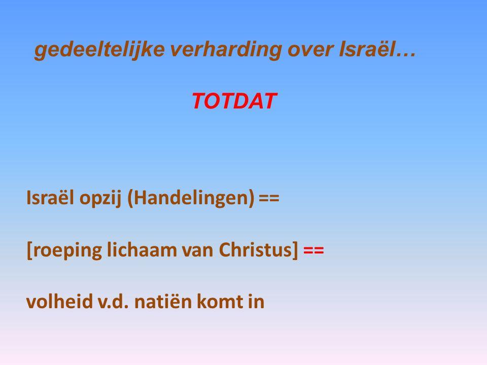gedeeltelijke verharding over Israël…