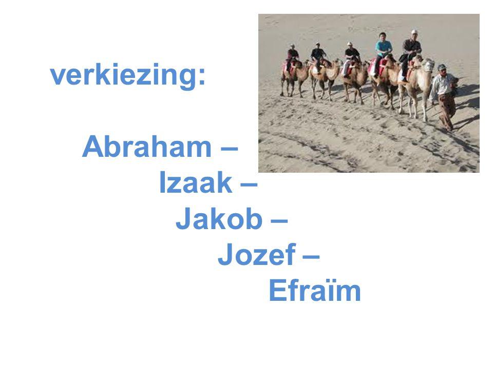 verkiezing: Abraham – Izaak – Jakob – Jozef – Efraïm