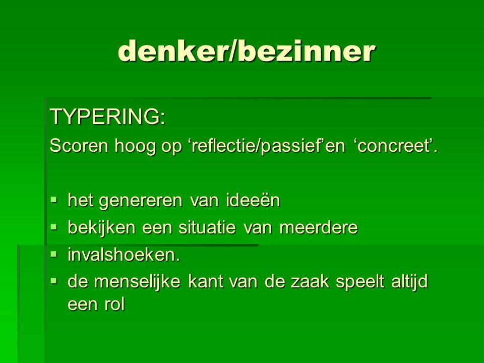 denker/bezinner TYPERING: