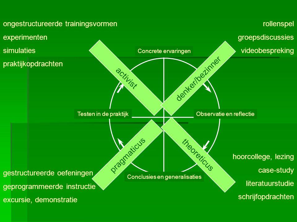 denker/bezinner activist pragmaticus theoreticus