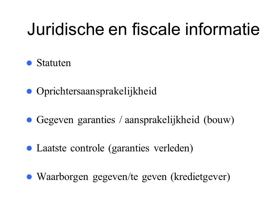 Juridische en fiscale informatie