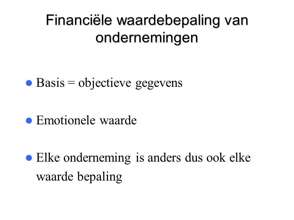 Financiële waardebepaling van ondernemingen