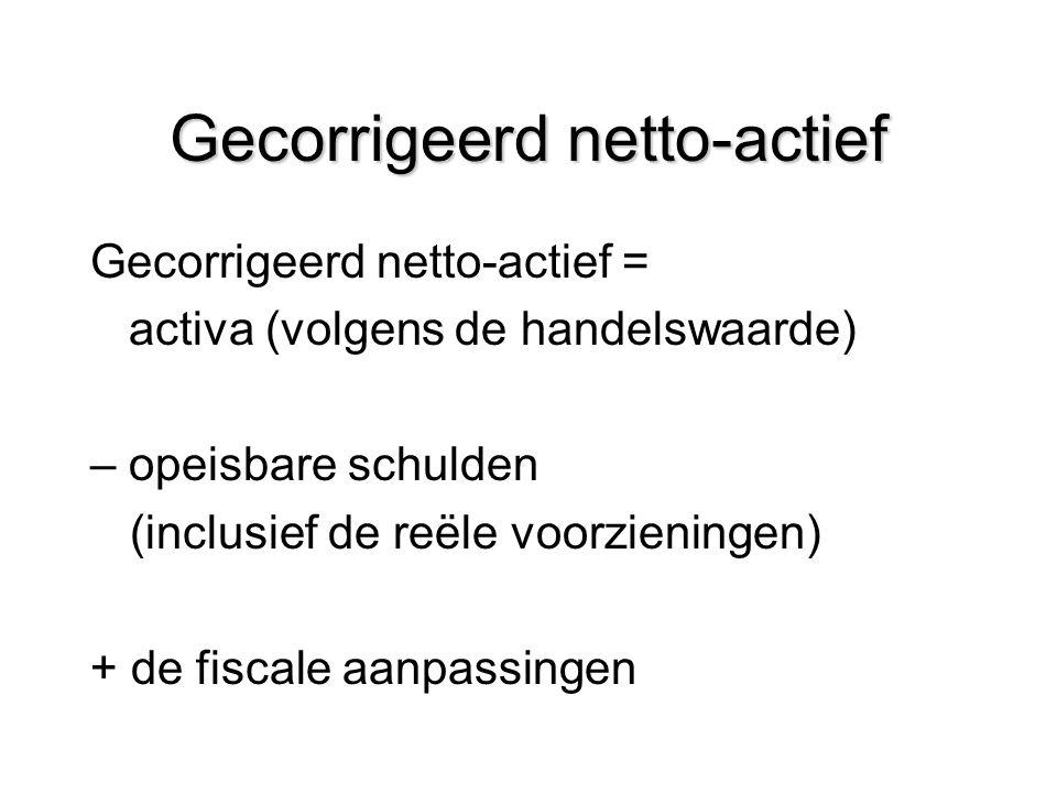 Gecorrigeerd netto-actief