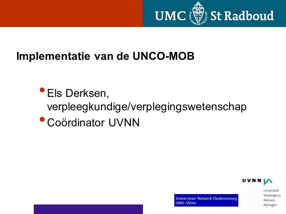 Implementatie van de UNCO-MOB