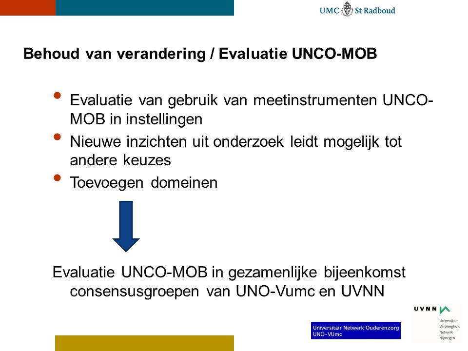 Behoud van verandering / Evaluatie UNCO-MOB