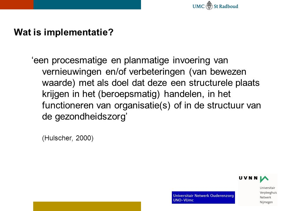 Wat is implementatie