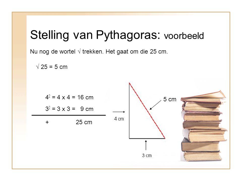 Stelling van Pythagoras: voorbeeld