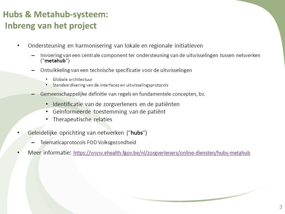 Hubs & Metahub-systeem: Inbreng van het project
