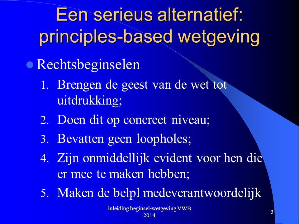Een serieus alternatief: principles-based wetgeving
