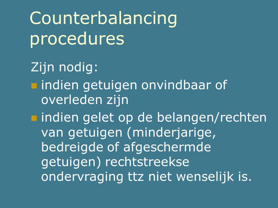 Counterbalancing procedures