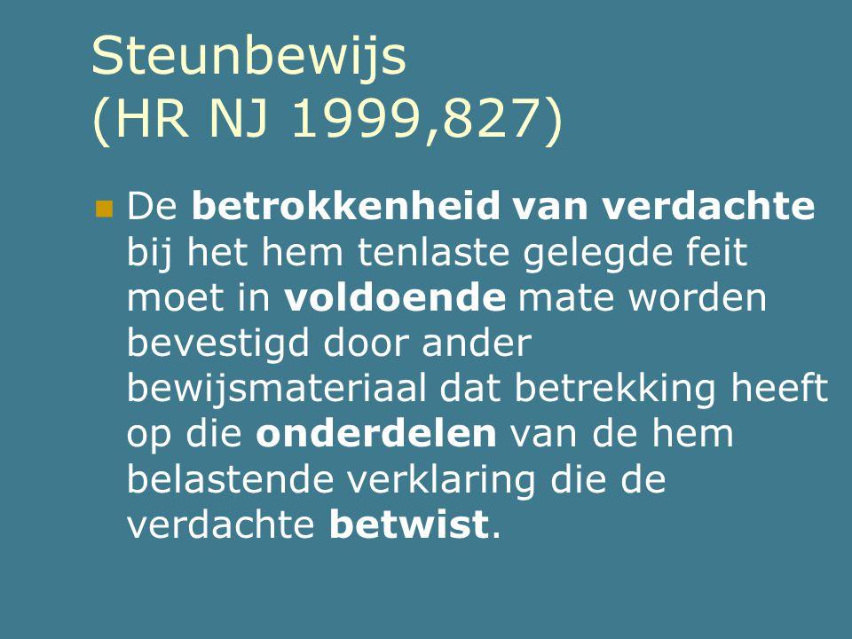 Steunbewijs (HR NJ 1999,827)