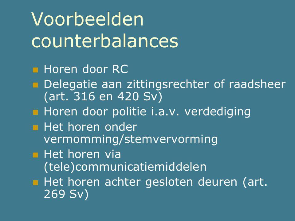 Voorbeelden counterbalances