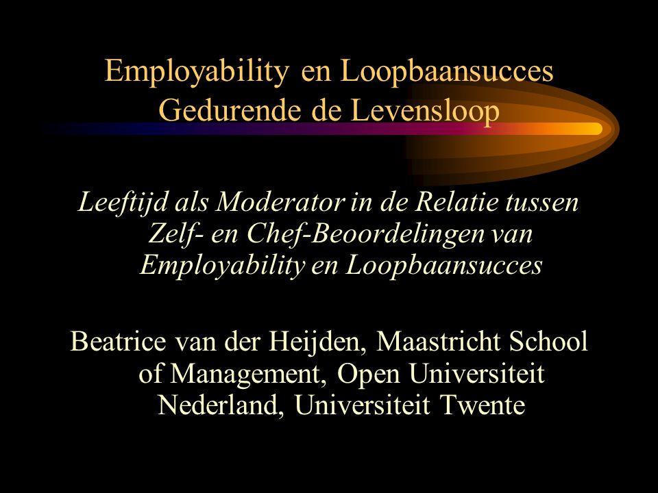 Employability en Loopbaansucces Gedurende de Levensloop