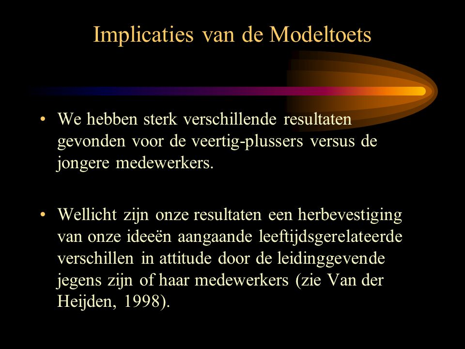 Implicaties van de Modeltoets