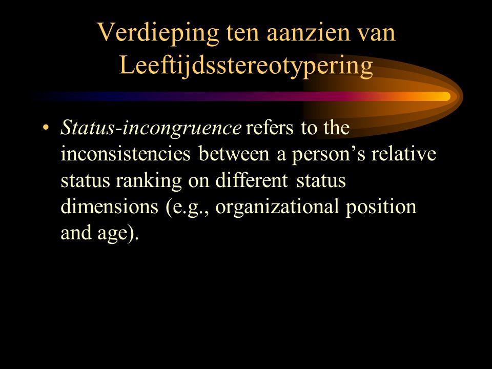Verdieping ten aanzien van Leeftijdsstereotypering