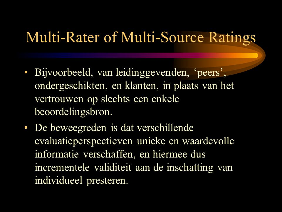 Multi-Rater of Multi-Source Ratings