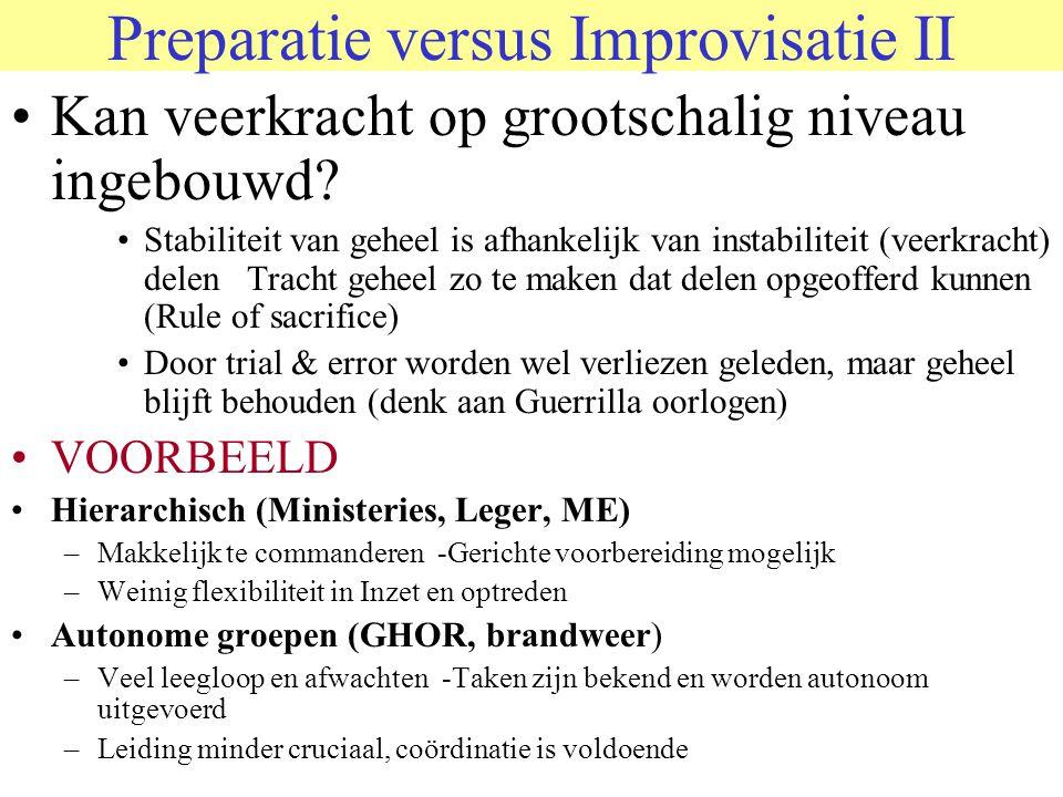 Preparatie versus Improvisatie II