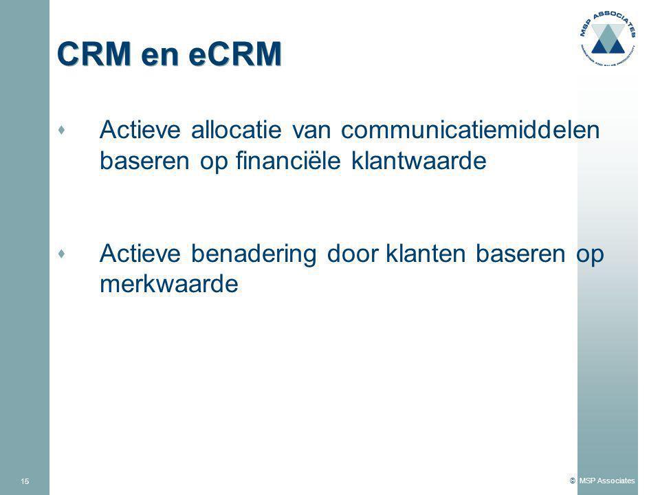 4/3/2017 CRM en eCRM. Actieve allocatie van communicatiemiddelen baseren op financiële klantwaarde.
