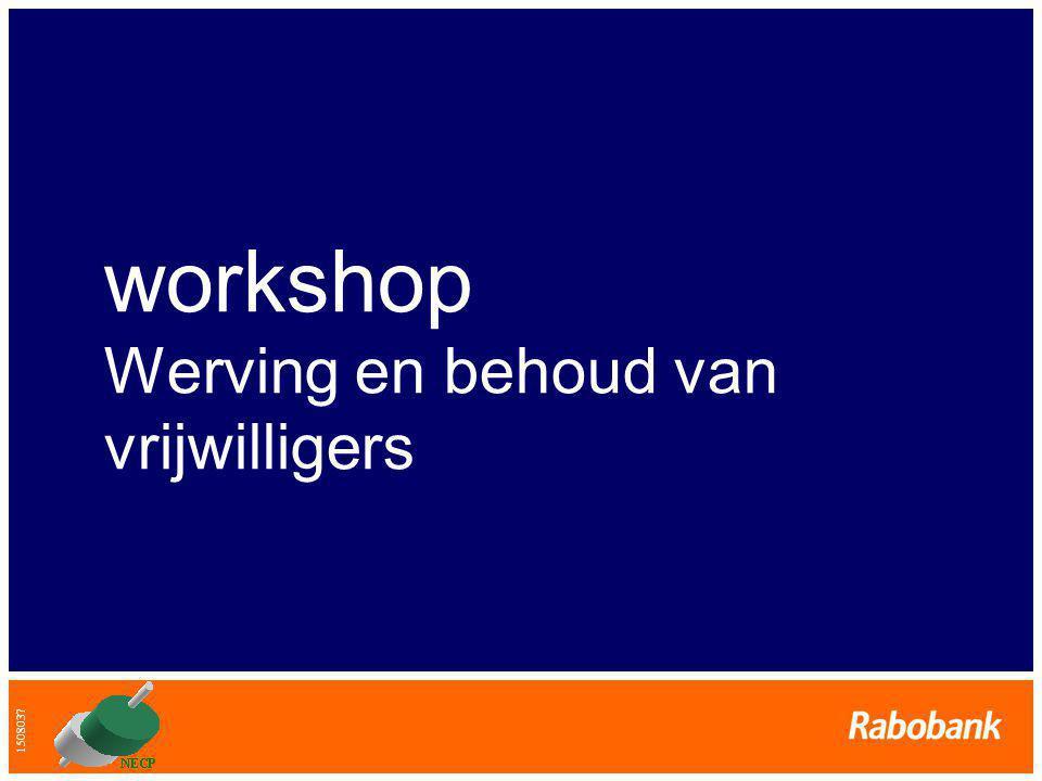 workshop Werving en behoud van vrijwilligers