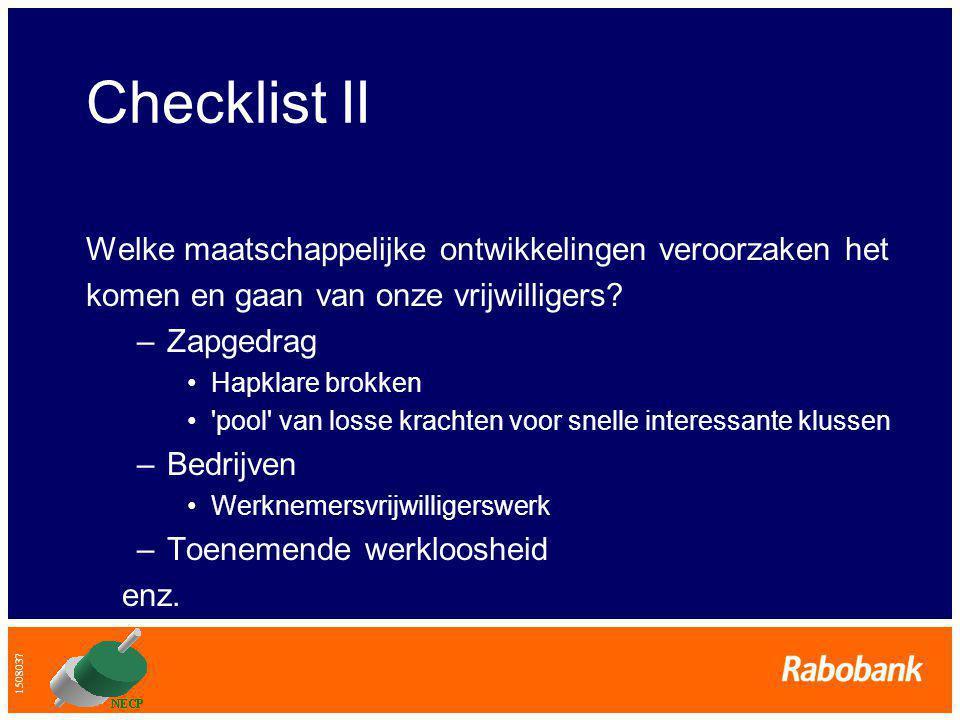Checklist II Welke maatschappelijke ontwikkelingen veroorzaken het