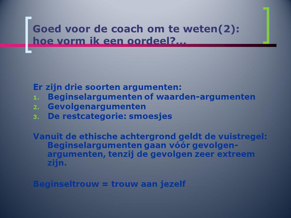 Goed voor de coach om te weten(2): hoe vorm ik een oordeel ...