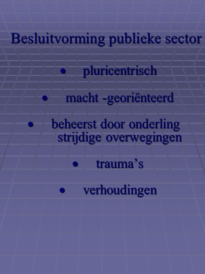 Besluitvorming publieke sector . pluricentrisch 
