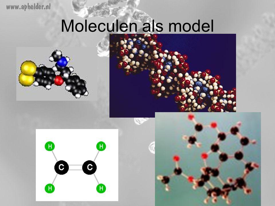 Moleculen als model Een aantal voorbeelden over hoe een voorstellen gemaakt kan worden van hoe moleculen eruit zien.