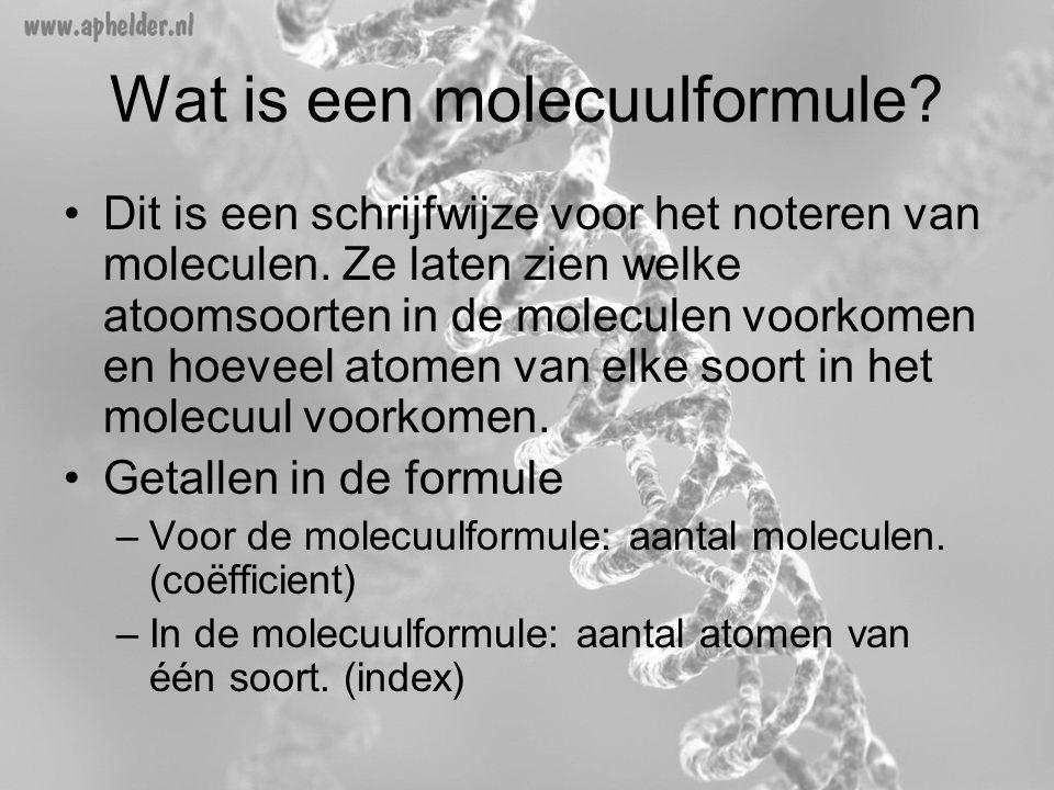 Wat is een molecuulformule
