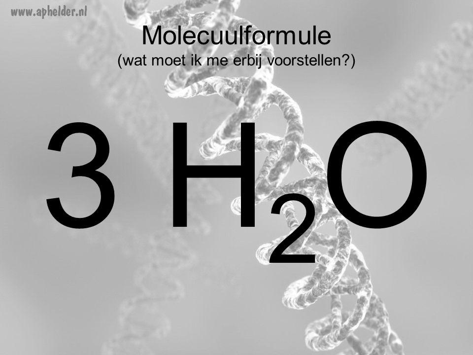 Molecuulformule (wat moet ik me erbij voorstellen )