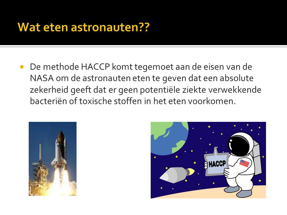 Wat eten astronauten