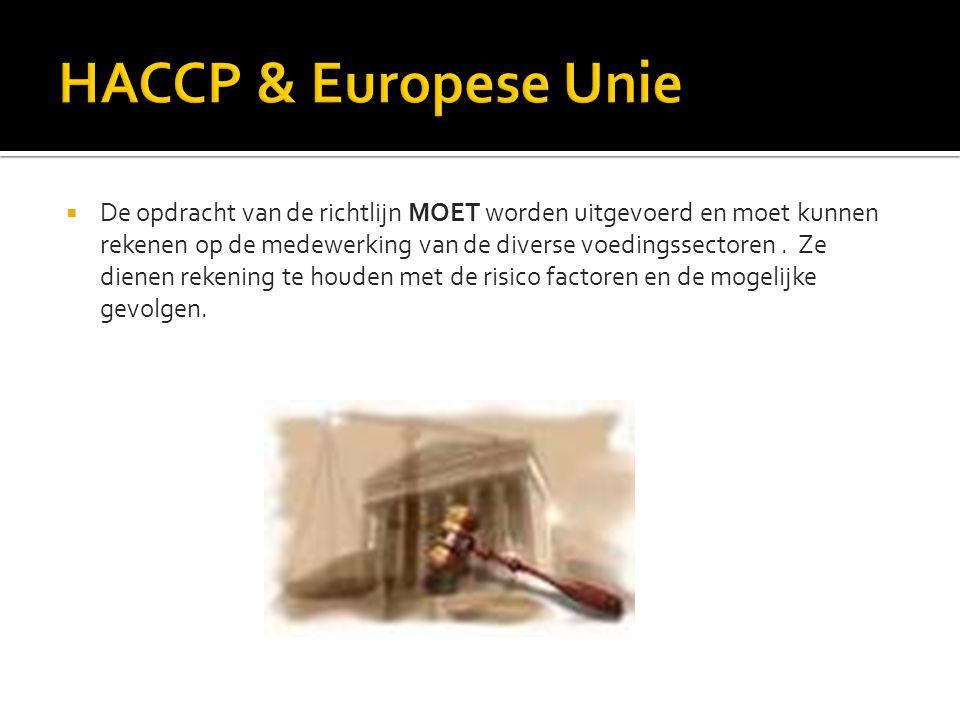 HACCP & Europese Unie