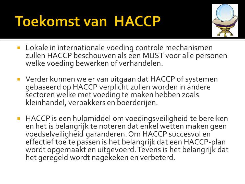 Toekomst van HACCP