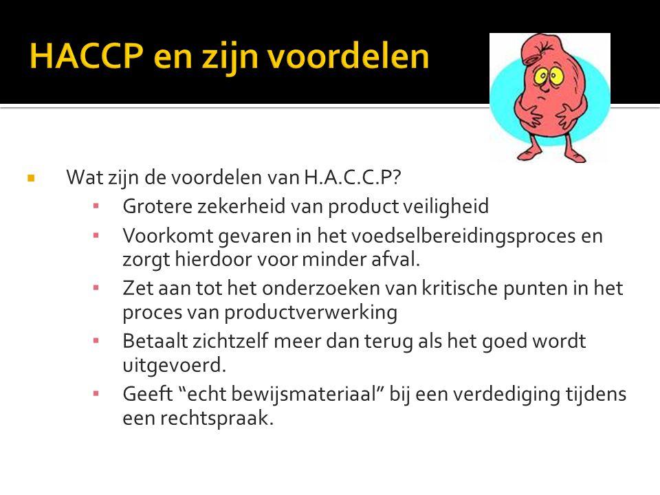 HACCP en zijn voordelen