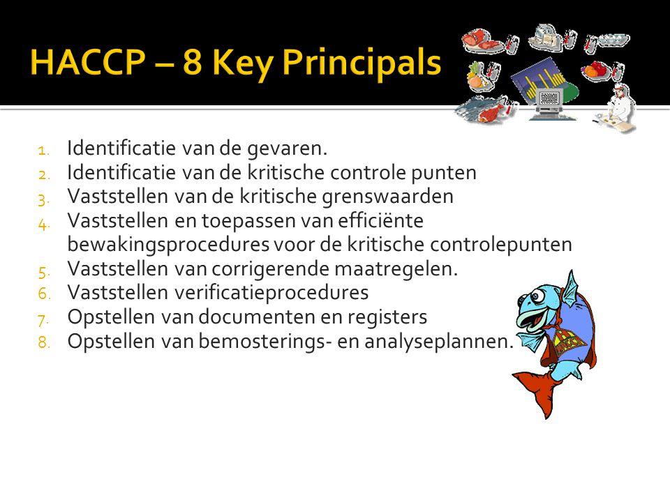 HACCP – 8 Key Principals Identificatie van de gevaren.