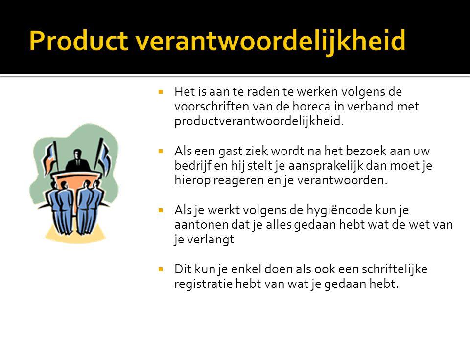 Product verantwoordelijkheid