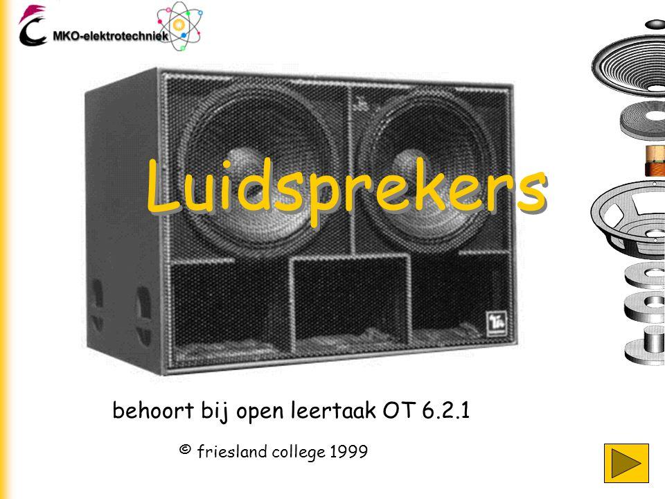 Luidsprekers behoort bij open leertaak OT 6.2.1
