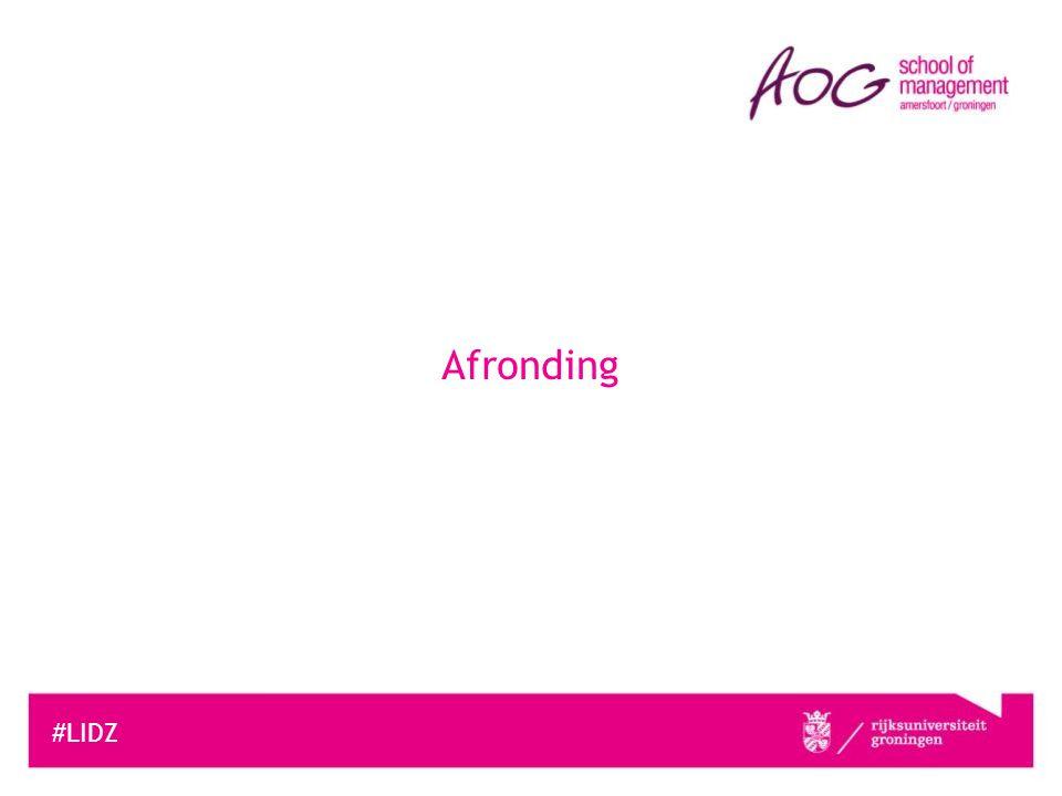 Afronding #LIDZ