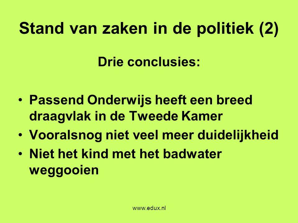 Stand van zaken in de politiek (2)