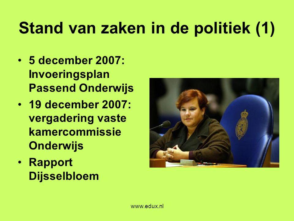 Stand van zaken in de politiek (1)