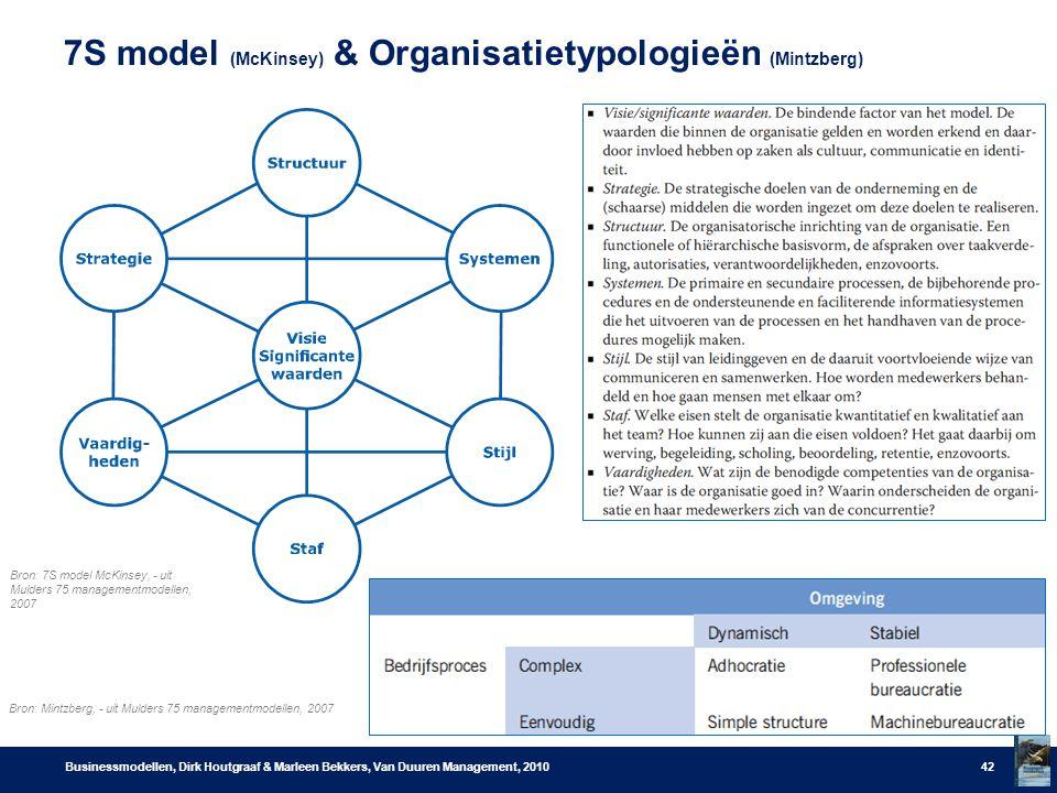7S model (McKinsey) & Organisatietypologieën (Mintzberg)