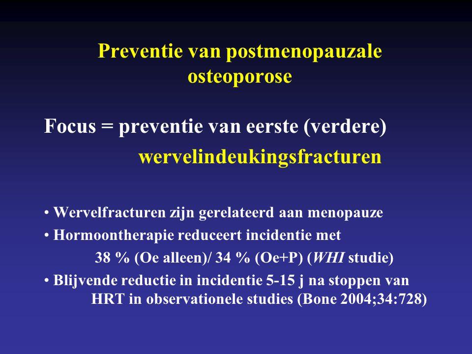 Preventie van postmenopauzale osteoporose
